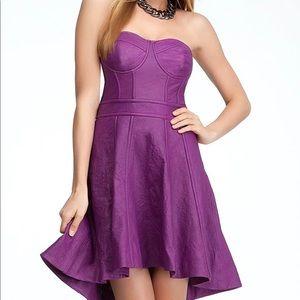 Bebe sexy purple leather corset dress S New
